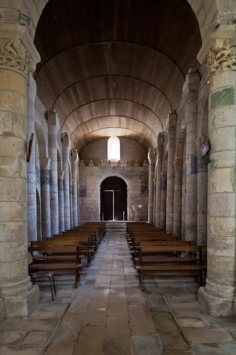 West door from nave, Église Saint Eutrope, Biron (Charente-Maritime)  Photo by PJ McKey