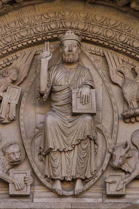West portal tympanum, Cathédrale Saint-Trophime, Arles (Bouches-du-Rhône)  Photo by Dennis Aubrey