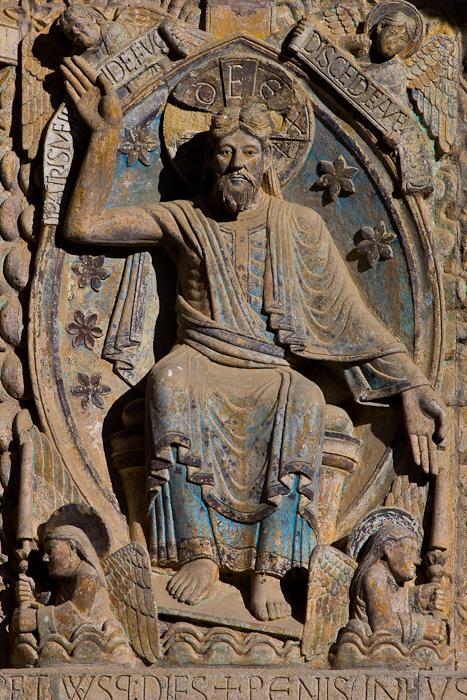 Christ in Majesty, Basilique Sainte Foy, Conques (Aveyron)  Photo by Dennis Aubrey