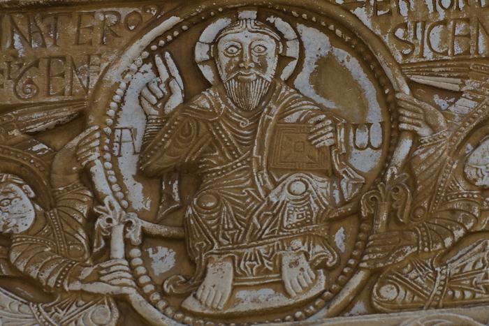 Christ in mandorla, Eglise à Saint-Génis-des-Fontaines, Saint-Génis-des-Fontaines (Pyrénées-Orientales) Photo by Dennis Aubrey