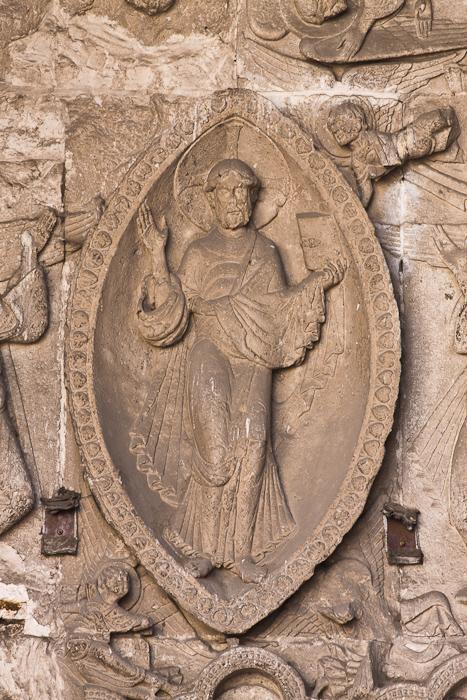 North portal tympanum, Cathédrale Saint Etienne, Cahors (Lot)  Photo by Dennis Aubrey)
