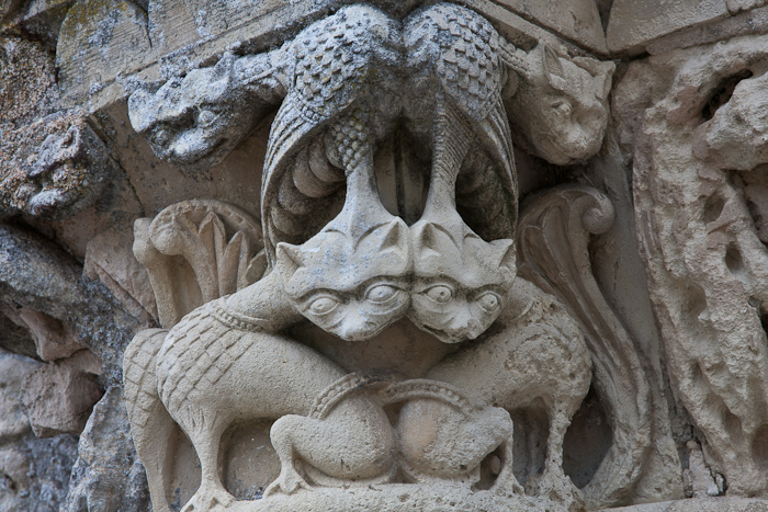 Portal detail, Église Saint Martin, Chadenac (Charente-Maritime)  Photo by Dennis Aubrey