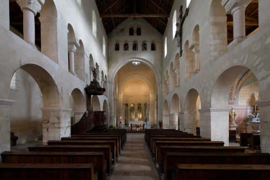 Eglise Saint-Étienne, Vignory (Haute-Marne)  Photo by Dennis Aubrey