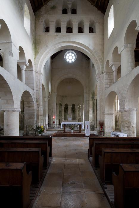 Eglise Saint-Étienne, Vignory (Haute-Marne)  Photo by Dennis Aubrey