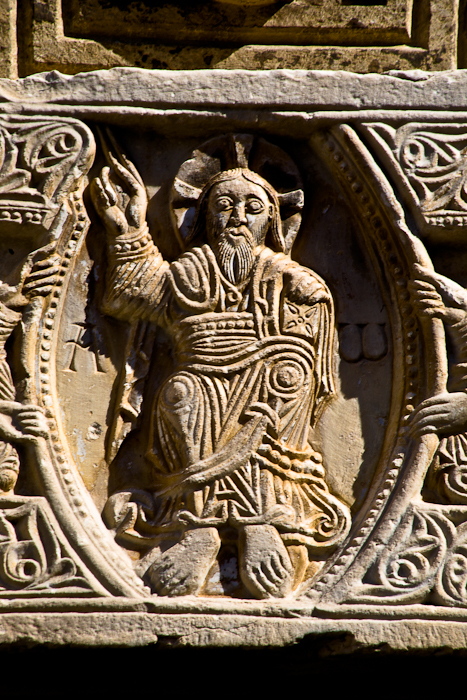 Christ in mandorla, Saint-André-de-Sorede, Sorede (Pyrénées-Orientales)  Photo by Dennis Aubrey