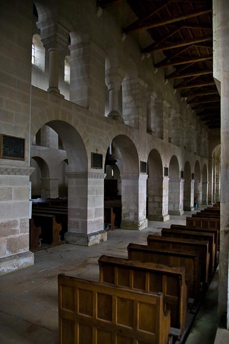 Nave arcade, Eglise Saint-Étienne, Vignory (Haute-Marne)  Photo by PJ McKey