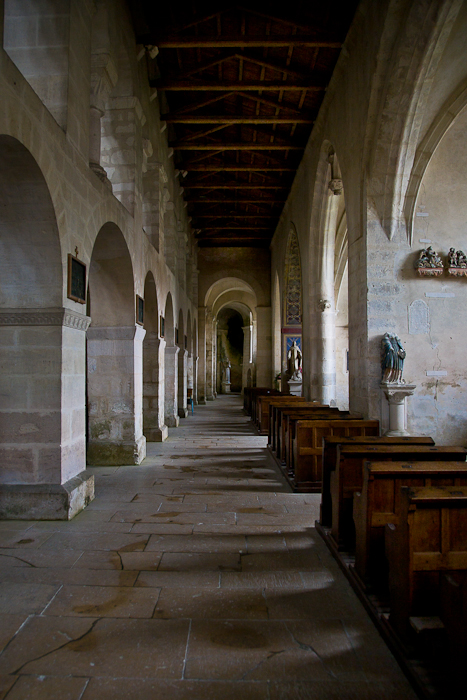 South side aisle, Eglise Saint-Étienne, Vignory (Haute-Marne) Photo by PJ McKey