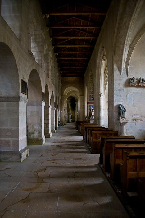 South side aisle, Eglise Saint-Étienne, Vignory (Haute-Marne)  Photo by PJ McKey