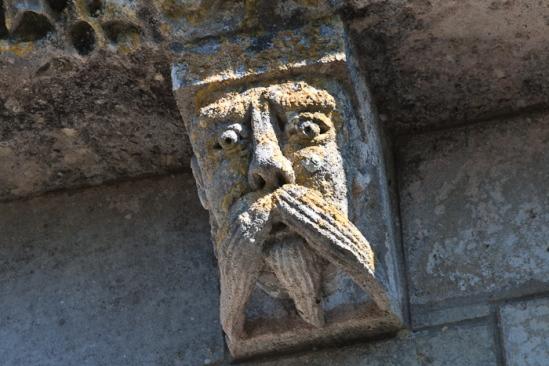 Bearded man, Prieuré Sainte Gemme, Sainte Gemme (Charente-Maritime)  Photo by Dennis Aubrey