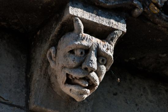 Demon, Prieuré Sainte Gemme, Sainte Gemme (Charente-Maritime) Photo by Dennis Aubrey