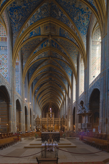 Nave, Cathédrale Sainte-Cécile, Albi (Tarn)  Photo by Dennis Aubrey