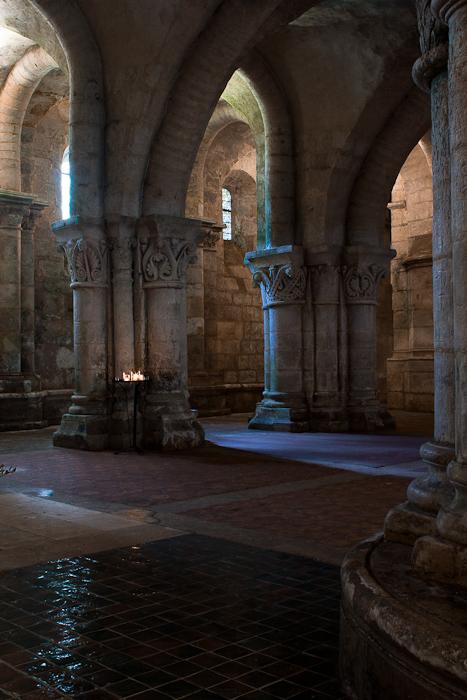 Crypt, Basilique Saint-Eutrope, Saintes (Charente-Maritime)  Photo by Dennis Aubrey