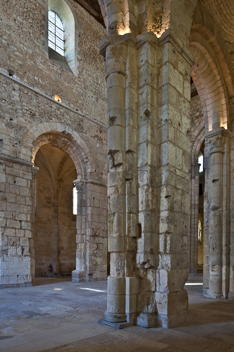 Transept and nave, Abbatiale Notre Dame de Bernay, Bernay (Eure) Photo by PJ McKey