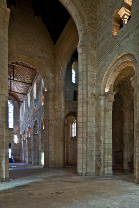 Nave Arcade Pillars Abbatiale Notre Dame De Bernay Eure Photo By
