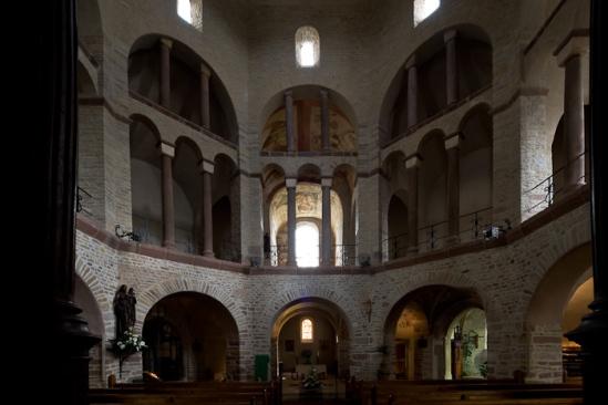 Abbaye de Bénédictines Sainte-Marie, Saint-Pierre, Saint-Paul à Ottmarsheim (Haut-Rhin)  Photo by Dennis Aubrey