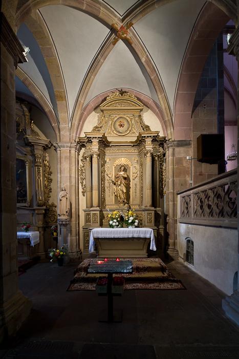 Side chapel, Église Saint Pierre et Saint Paul, Andlau (Bas-Rhin)  Photo by Dennis Aubrey