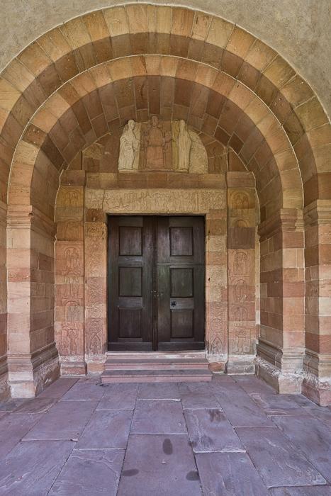 West portal, Église Saint Pierre et Saint Paul, Andlau (Bas-Rhin)  Photo by Dennis Aubrey