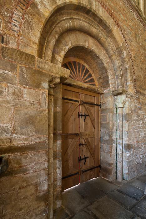 West portal, Abbaye Notre-Dame de Daoulas, Daoulas (Finistère)  Photo by Dennis Aubrey