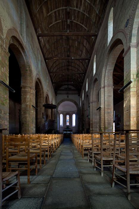 Nave, Abbaye Notre-Dame de Daoulas, Daoulas (Finistère)  Photo by Dennis Aubrey
