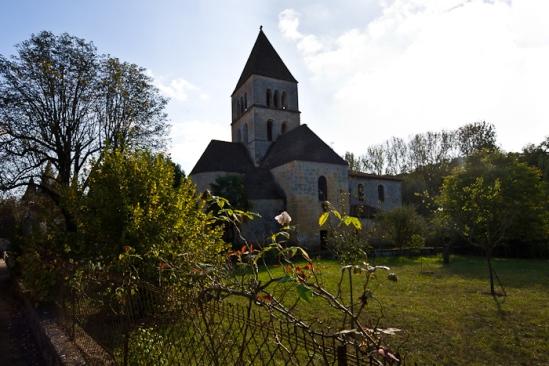Église Saint Léonce, Saint-Léon-sur-Vézère (Dordogne)  Photo by Dennis Aubrey