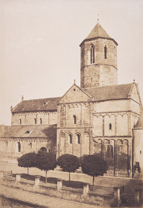 Eglise Saint Pierre et Saint Paul, Rosheim (Bas-Rhin) Photo by Henri Le Secq (Photo in the Public Domain) 1851
