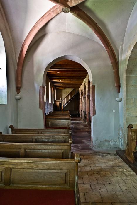 Side aisle, Eglise Saint Ulrich, Altenstadt (Bas-Rhin)  Photo by PJ McKey