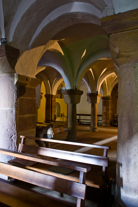 Crypt,  Église Saint Pierre et Saint Paul, Andlau (Bas-Rhin) Photo by PJ McKey
