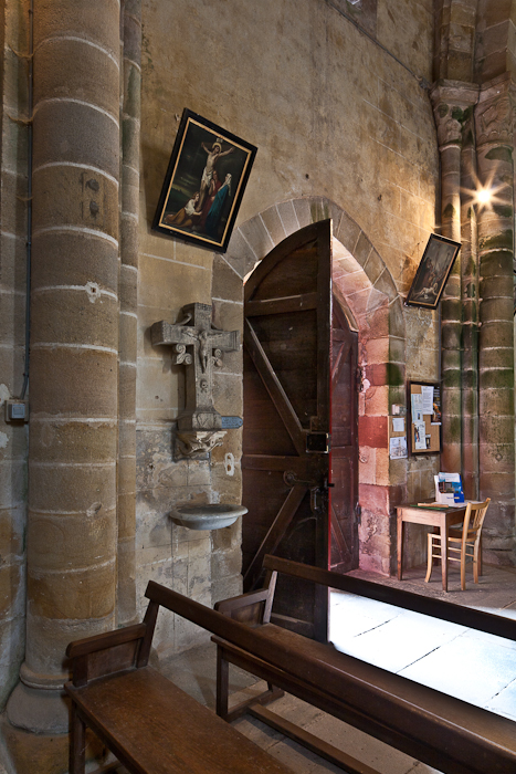 South door, Notre Dame d'Agonges, Agonges (Allier) Photo by PJ McKey
