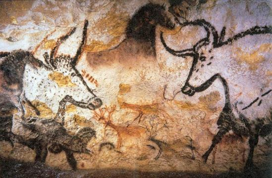 Bulls from the Salle des Tauraux, Lascaux (Image in the Public Domain)