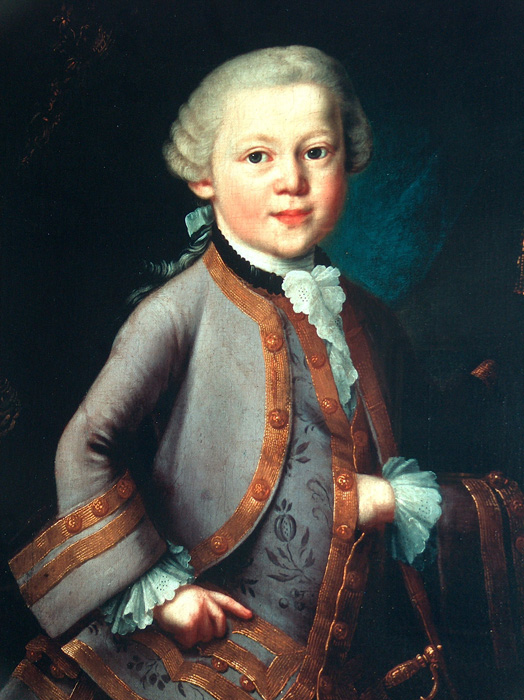 Wolfgang Amadeus Mozart (1756-1791)  Image in the Public Domain