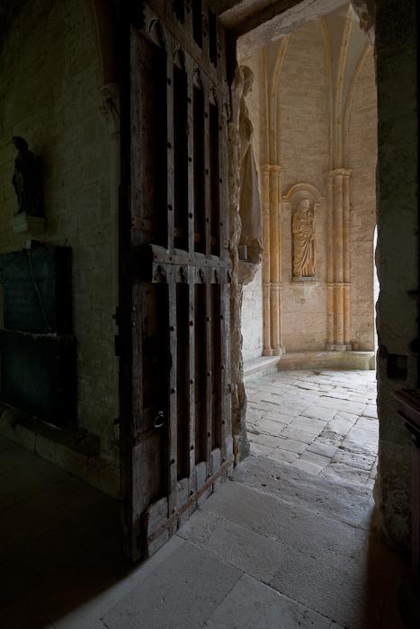 Door to narthex, Eglise Notre Dame de l'Assomption, Mont-devant-Sassy (Meuse)  Photo by Dennis Aubrey