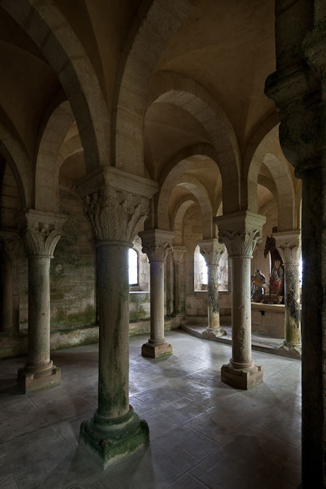 Crypt, Eglise Notre Dame de l'Assomption, Mont-devant-Sassy (Meuse)  Photo by Dennis Aubrey