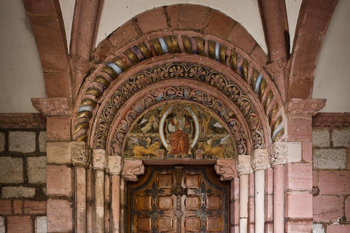 West portal, Église Sainte Foy, Sélestat (Bas-Rhin)  Photo by Dennis Aubrey
