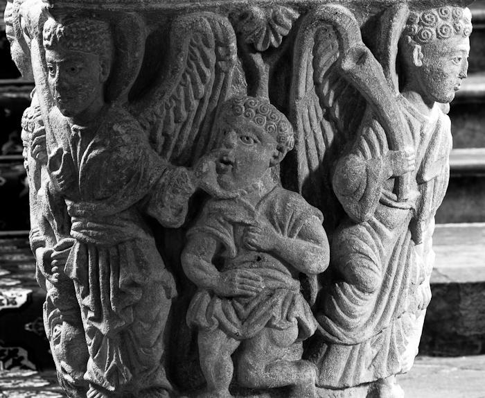 Revelations capital, Abbaye Saint-Pierre et Saint-Caprais, Mozac (Puy-de-Dôme)  Photo by Dennis Aubrey