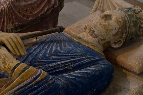 Polychrome effigy, Henry II of England, Abbaye Royale de Fontevrault, Fontevrault l'Abbaye (Maine-et-Loire)  Photo by Dennis Aubrey