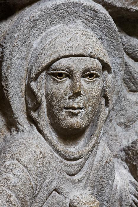 Resurrection detail, Mary Magdeleine, Abbaye Saint-Pierre et Saint-Caprais, Mozac (Puy-de-Dôme) Photo by PJ McKey