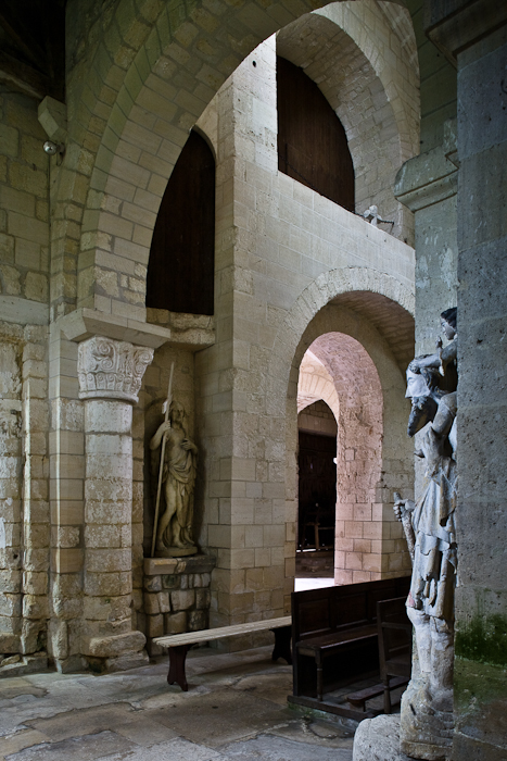 View from crossing, Abbaye Notre Dame de Morienval, Morienval (Oise) Photo by PJ McKey