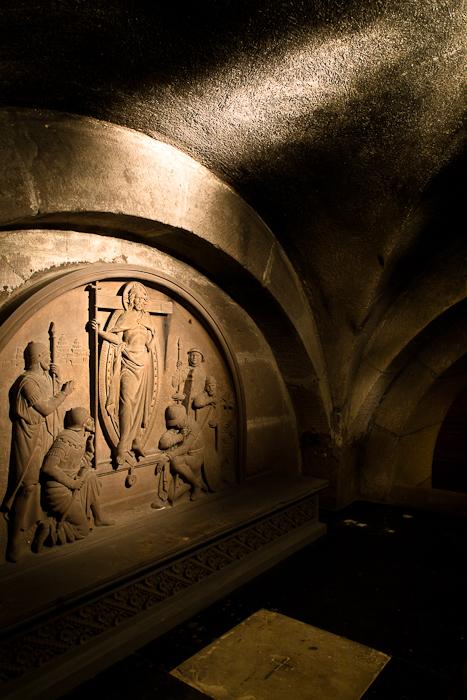 Crypt, Église Sainte Foy, Sélestat (Bas-Rhin) Photo by PJ McKey