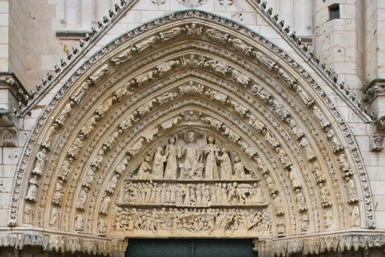 West central portal, Cathédrale Saint Pierre, Poitiers (Vienne) Photo by Dennis Aubrey