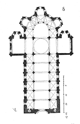 Plan, Saint Etienne de Nevers (Viollet-le-Duc)