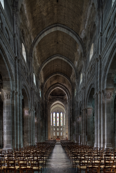 Nave, Cathédrale Saint Lazare, Autun (Côte-d'Or)  Photograph by Dennis Aubrey