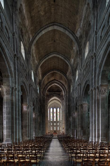 Nave, Cathédrale Saint Lazare, Autun (Côte-d'Or)  Photograph by Dennis Aubrey