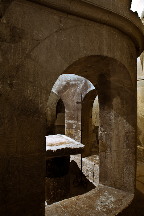 Crypt ambulatory detail, Basilique Saint-Anne d'Apt, Apt (Vaucluse)  Photo by PJ McKey