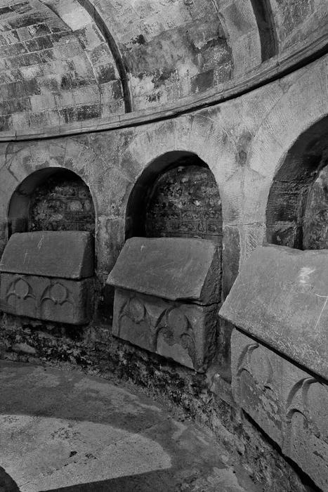 Sarcophagi, Basilique Saint-Anne d'Apt, Apt (Vaucluse)  Photo by PJ McKey
