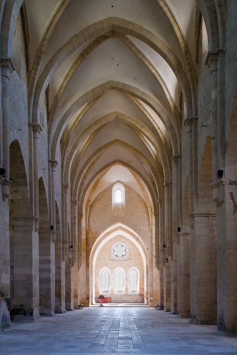 Nave, Église Abbatiale Notre Dame de Noirlac, Bruere-Allychamps (Cher) Photo by Dennis Aubrey