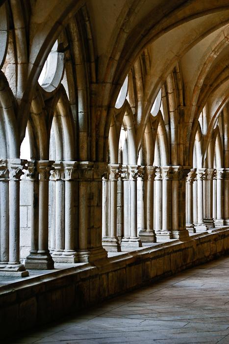 Cloister, Église Abbatiale Notre Dame de Noirlac, Bruere-Allychamps (Cher) Photo by PJ McKey