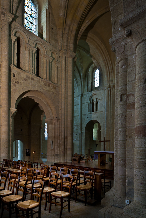 First bay of nave and crossing, Abbaye Sainte Trinité, Lessay (Manche) Photo by PJ McKey