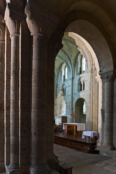 Crossing piers, Abbaye Sainte Trinité, Lessay (Manche) Photo by PJ McKey