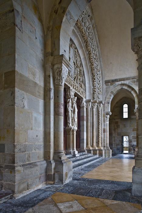 West portal, Cathédrale Saint Lazare, Autun (Côte-d'Or) Photograph by PJ McKey