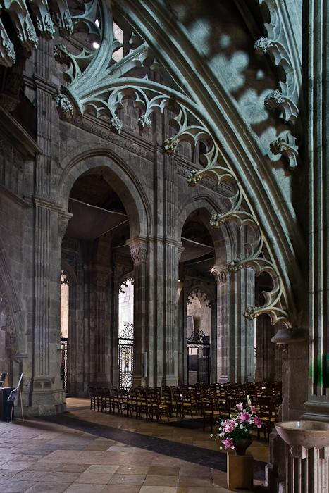 Nave arcade, Cathédrale Saint Lazare, Autun (Côte-d'Or) Photograph by PJ McKey